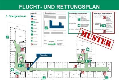Beispiel Flucht- und Rettungsplan Büroetage