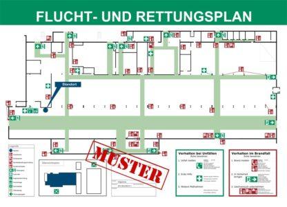Beispiel Flucht- und Rettungsplan Erstellung Industrieanlage/Halle