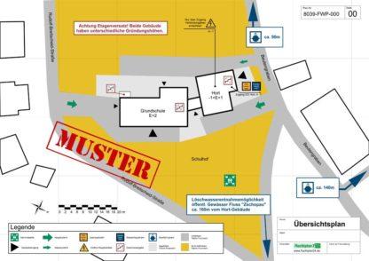 Beispiel Feuerwehrplan Übersichtsplan einer Schule