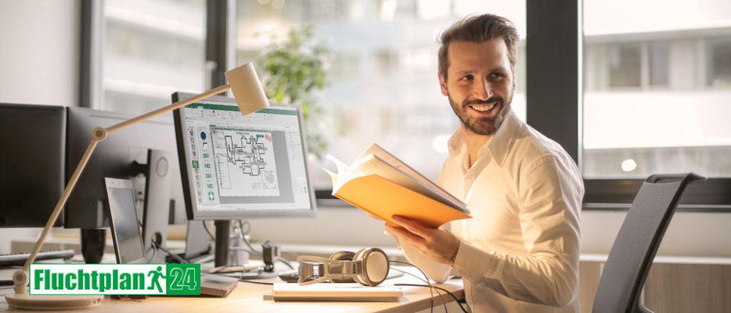 Planungsbüros, Architekten und Großkunden profitieren hinsichtlich Flucht- und Rettungspläne vom ErstellservicePlus