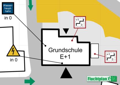 Beispiel Feuerwehrplan Übersichtsplan Detailansicht