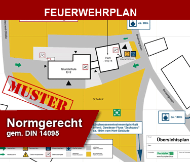 Produktbild Erstellservice eines Feuerwehrplan-Übersichtsplans