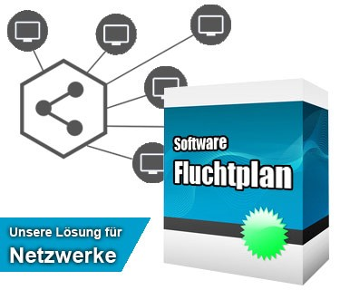 Jetzt Fluchtplan Software CS für Netzwerk kaufen bei fluchtplan24.de