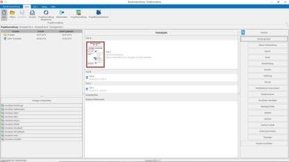 Brandschutzordnung Software - Ansicht der Programmoberfläche