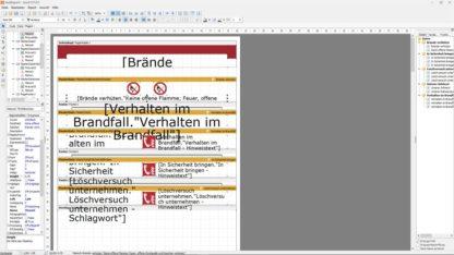 Software - Vorlageneditor für de Brandschutzordnung Teil A