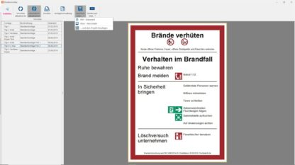 Software - Export der Brandschutzordnung Teil A als PDF