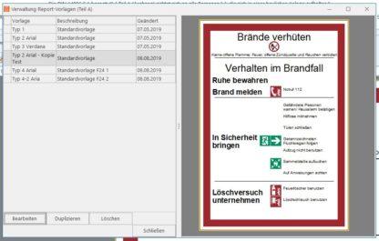 Software - Vorlagen für Brandschutzordnung Teil A