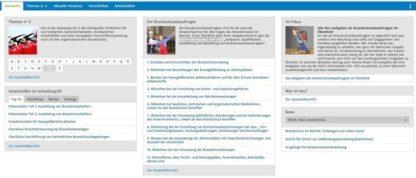 Fluchtplan24.de - Betriebliches Brandschutzmanagement Software: Screenshot der Startseite