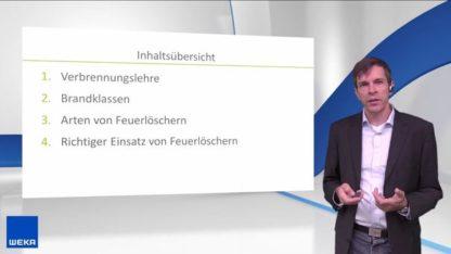 """Screenshot 1 - Unterweisungsfilm """"Brände richtig löschen"""" von WEKA bei Fluchtplan24.de"""