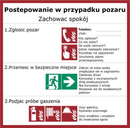 Die Erstellung eines Flucht- und Rettungsplans ist in den Sprachen Deutsch, Englisch, Französisch, Spanisch, Italienisch, Tschechisch und Polnisch möglich.